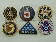 FBI, CIA, HOMELAND, US MARSHAL, US JUSTICE, IN HONOR Agency Emblem Lapel Pin