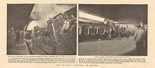 1900 ANTIQUE PRINT - THE RAILWAY ACCIDENT AT SLOUGH