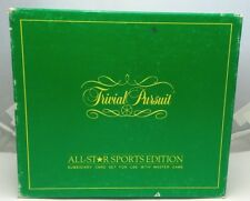 Trivial Pursuit All Star Sports Edition 1000 Card Set Used Horn Abbot 1981