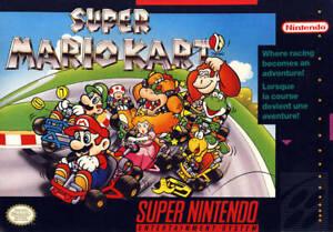 SUPER MARIO KART - RARE SNES Super Nintendo Game