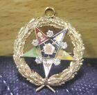 14K Yellow Gold Order Eastern Star Brooch Pin Past Worthy Matron Mason Diamonds