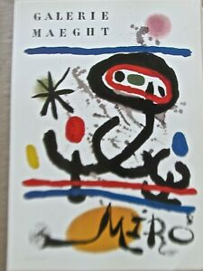 Joan Miro Advertising Mini-Poster for Galerie Maecht Exhibition Show 16x11 PP