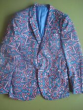 SUSLO COUTURE HOLIDAY BLAZER CANDY CANE LAND SMALL 38 NEW