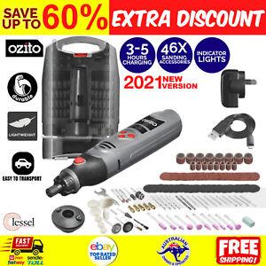 OZITO 3.6V Cordless Micro Rotary Multi Tool Dremel + 118 Accessories & Case Kit