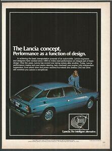 Lancia HPE . The Lancia concept - 1978  Vintage Print Ad