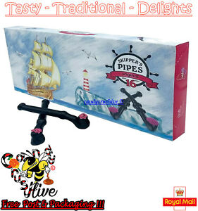 Skippers Pipes Retro Sweets Original Liquorice Candy - 16 pack