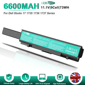 MT342 PW823 PW824 Battery For Dell Studio 17 1735 1736 1737 PP31L 312-0711 KM974