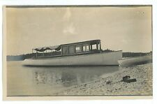 RPPC Early Excursion Ship Boat Motorboat? Vintage Real Photo Postcard