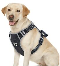 Pit Bull Dog Harness No Pull Adjustable Dog Harness Reflective Harness idepet OB
