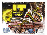 1955 IT CAME FROM BENEATH THE SEA VINTAGE MOVIE POSTER PRINT STYLE B 18x24 9 MIL
