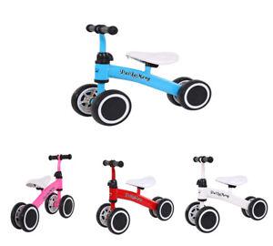 Mini Kids Balance Pushing Bike Bicycle Toddler Training Tricycle Push Scooter UK
