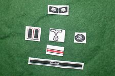 1/6 WW2 German Totenkopf  insignia, badge and patches