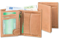 Woodland® Leder Geldbörse im Hochformat aus naturbelassenem Büffelleder in Natur