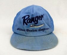 Vintage Ranger Boat National Dealers Conference Fishing Mesh Adjustable Blue Hat