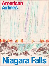Niagara Falls New York American Airlines  Vintage United States Travel Poster
