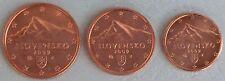 1+2+5 Euro Cent Slowakei 2009 unz