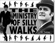 Monty Python Ministry Of Silly Walks 70 icono Cartel Retro Metal Lata signo Grandes