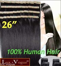 "26"" 40pcs 100% Human Hair 3M Tape-in Extensions Remy #2"