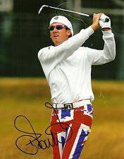 Ian Poulter Signed 8x10 Photo PGA Autograph Black Sharpie