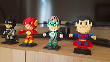 The Justice League DC Comics 4 Super Heroes Building Block Minifigure Brick Set