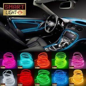 1M-5M EL Wire with Welted Piping Edge-Car Dash Neon LED Glow Tube/String *FAST*