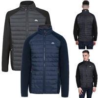 Mens Trespass Saunter Fleece Hybrid Jacket | AT300 Padded Heavyweight & Casual