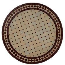 Mosaik Tisch Mosaiktisch Bistrotisch Rund 70 cm Esstisch Bordeaux Gartentisch