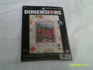 NIP Dimensions Counted Cross Stitch-Friends are Family-Kit 6895