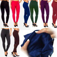 New Ladies Thick Winter Thermal Leggings Fully Fleece Lined Warm High Waist 8-16