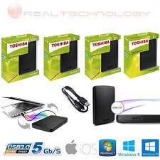 "HARD DISK ESTERNO 2,5"" 500GB-1TB-2TB-3TB TOSHIBA AUTOALIMENTATO USB 2.0/3.0"