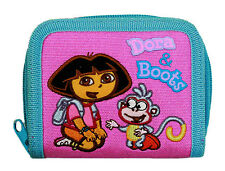 DORA the EXPLORER & BOOTS Embroidered ZIPPERED WALLET COIN PURSE Card Case NEW!!