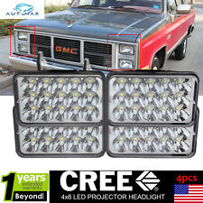 4pcs LED Headlights For GMC G1500 G2500 G3500 C2500 C3500 Suburban K3500 2 Pair
