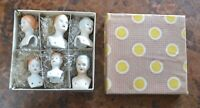SET OF 6 DOLLHOUSE PORCELAIN HEADS