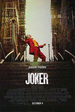 Joker Original Movie Poster Double Sided Final Style - Joaquin Phoenix De Niro