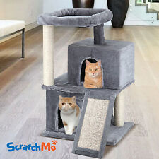 ScratchMe Cat Tree Tower Toy with Hammock & Scratching Post Pet Play House