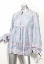 SEE BY CHLOE Womens Silk Blue & Purple Floral Long Sleeve Button Blouse Top 14
