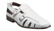 Stacy Adams Seneca Fisherman strap Sandal White Leather Beach Shoes  25169-100