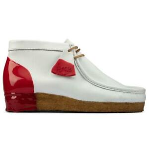 Clarks Wallabee Boot 'White / Red' Men's 26160199
