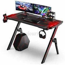120cm RGB LED Gaming Tisch Computertisch Schreibtisch Gamer PC Tische Bürotisch