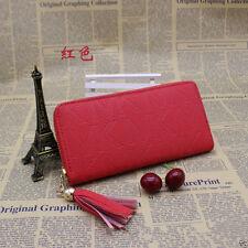 Wallets Letter Print Genuine Leather Woman Wallet Clutch Purse Women Bags red