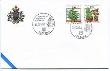 1992-12-30 San Marino Faetano Posta aerea ANNULLO SPECIALE Cover