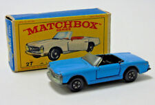 No.27 Matchbox Superfast Lesney Bleu Mercedes-Benz 230SL 1:64 Echelle en Boîte