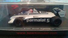 SPARK S4347 1/43 BRABHAM FORD BT49C NELSON PIQUET ARGENTINA GP 1981 WORLD CHAMP
