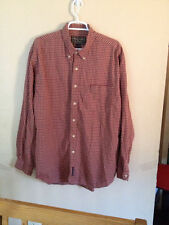 Abercrombie & Fitch Mens Plaid Shirt Outdoor Goods Cotton Red/ Beige L Large