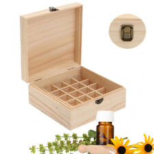 25 Slot Essential Oils Storage Box Aromatherapy Wooden Case Jewellery Organizer