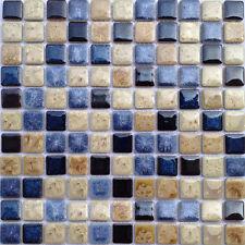 TST Cobalt Blue Porcelain Mosaics Fambe Ceramic Wall Bath Floor Backsplash Tile