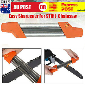 """2 in 1 Easy Chainsaw Chain File Sharpener 4.0mm For STIHL 3/8""""P L"""
