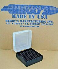 .223 / 556 ammo case / box 100 round (Clear / Black) 222 223 556 Berry's mfg