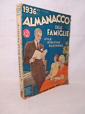 Almanacco delle Famiglie 1936 di Natale Taroni - Sonzogno Fascismo Mussolini