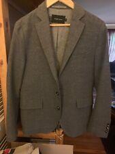 Wings Horns Grey Wool Blazer 36/s